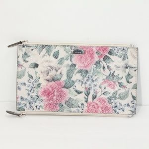 Lodis Lani Pouch Floral Leather Clutch Spring NEW